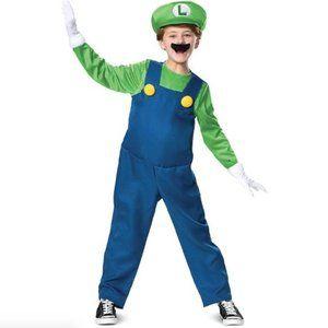 Luigi Costume Deluxe Super Mario Brothers M (7-8)